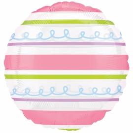 fóliový balón farebné pásiky