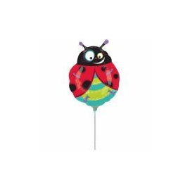 mini fóliový balón lienka