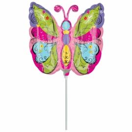 Mini foliový balón Motýlik