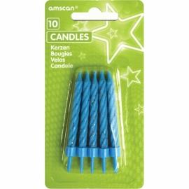Sviečky glitter modré
