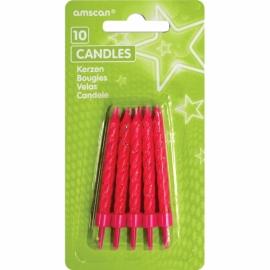 Sviečky glitter ružové