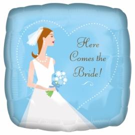 Foliový balón Here Comes the Bride
