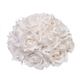 Kytica ruží biela