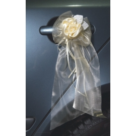 Svadobná výzdoba kľučiek krémová