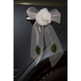 Svadobná výzdoba kľučiek biela