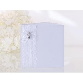 Kniha hostí biela s čipkou