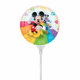 Mini foliový balón Mickey rainbow