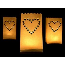 Sáčky na sviečky srdce - veľké