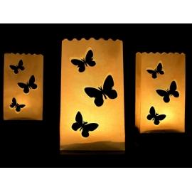 Sáčky na sviečky motýliky - veľké