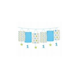 Girlanda lampióny 1.narodeniny baby-boy dots