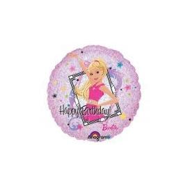 Foliový balón happy birthday Barbie