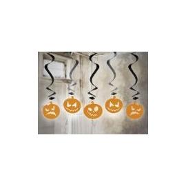 Visiace špirály Halloween tekvice