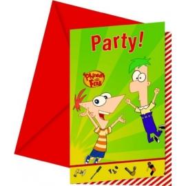 Pozvánky Phineas a Ferb