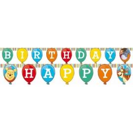 Banner Macko Pú happy birthday