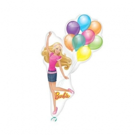 Mini foliový balón Barbie balloons