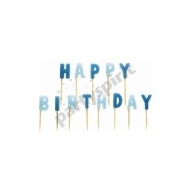 Sviečky happy birthday modre