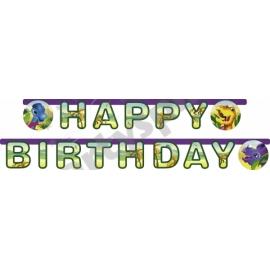 Banner Dino happy birthday