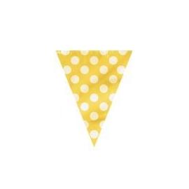 Vlajočky dots žlté