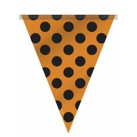Vlajočky dots oranžovo - čierne