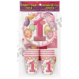 Party sada 1.narodeniny dievčatko