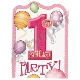 Pozvánky 1.narodeniny dievčatko