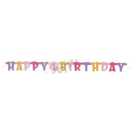 Banner 1.narodeniny dievčatko happy birthday