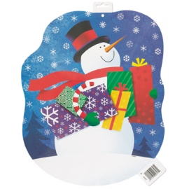 Kartónový výsek Snowman cutout