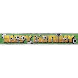 Banner Football happy birthday