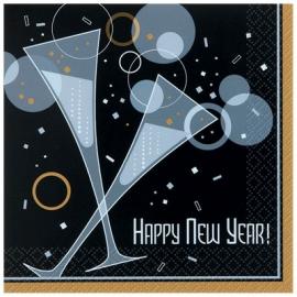 Servítky Bubbly New Year