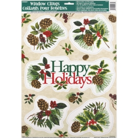 Okenné nálepky Happy Holidays