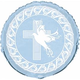 Fóliový balón krížik modrý