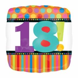 "Fóliový balón ""18"" Dots & Stripes"