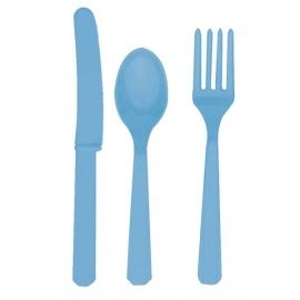 Plastový príbor baby blue