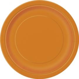 Tanierik veľký oranžový