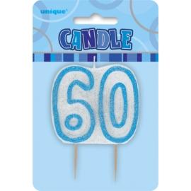 Sviečka 60 modrá