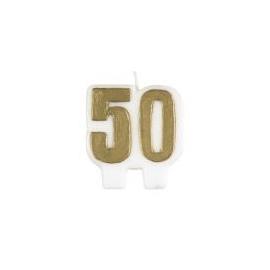 """Sviečka """"50"""" zlatá"""