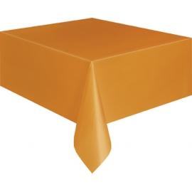 Obrus plastový oranžový