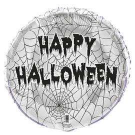 Foliový balón Happy Halloween pavučina