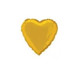 Fóliový balón zlaté srdce