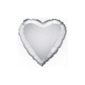 Foliový balón strieborné srdce