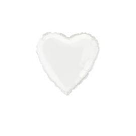 Foliový balón biele srdce