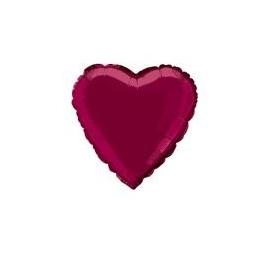 Foliový balón bordové srdce