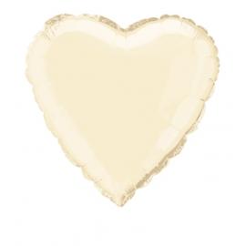 Foliový balón Srdce - kremové