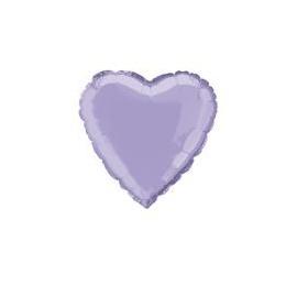 Foliový balón levandulové srdce