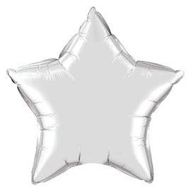 Foliový balón star strieborný