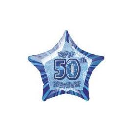 Fóliová hviezda modrá 50