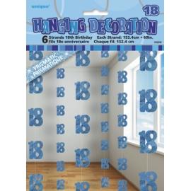 Visiace dekorácie glitz 18 modré