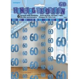 Visiace dekorácie glitz 60 modré