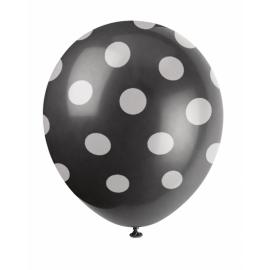 Bodkovaný balón čierny