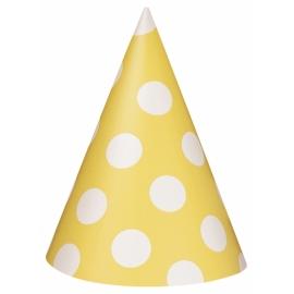 Klobúčik Dots žltý